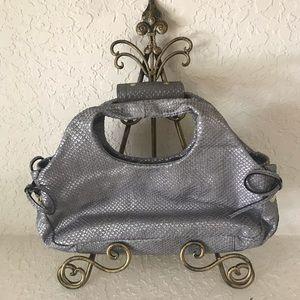 Kate Spade Silver Animal Print Hobo Bag